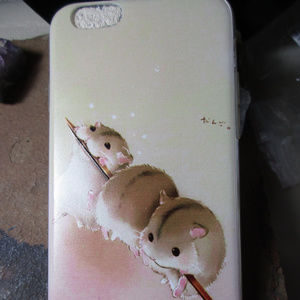 Accessories - Iphone 6/6S cute hamster soft case kawaii 533